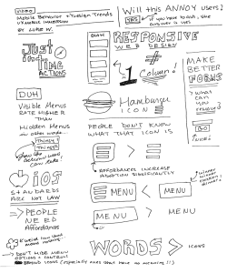 Sketchnotes on mobile design